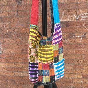 Rising international boho hippie crossbody bag